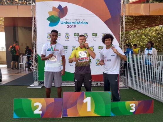 Cleomar disputa Paralimpíadas Universitárias e conquista novo recorde