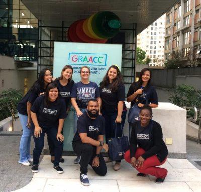 Voluntários Flex visitam Hospital Graacc